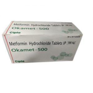 OKAMET 500 mg TABLET-20 tablets -CIPLA LTD