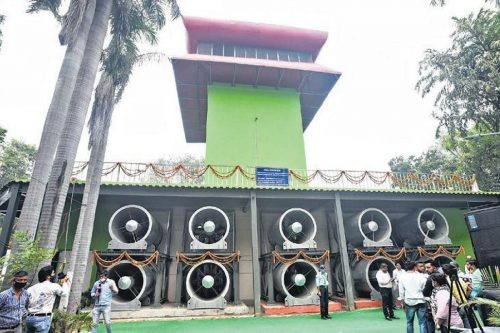 India's First Smog Tower Inaugurated In New Delhi